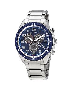 Mens-AR-Chronograph-Stainless-Steel-Blue-Dial
