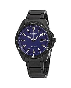 Mens-AR-Stainless-Steel-Blue-Dial