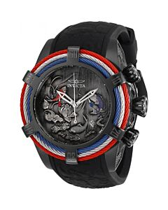 Mens-Bolt-Chronograph-Silicone-Black,-Blue,-Red-Dial