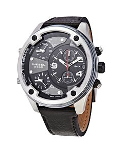 Mens-Boltdown-Chronograph-Leather-Black-Dial