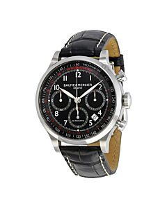 Mens-Capeland-Chronograph-Leather-Black-Dial