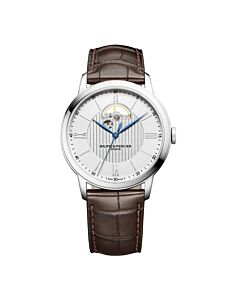 Mens-Classima-Alligator-Leather-Silver-tone-Dial