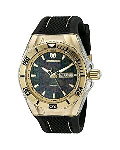Men's Cruise Monogram Silicone Black Mother of Pearl Dial