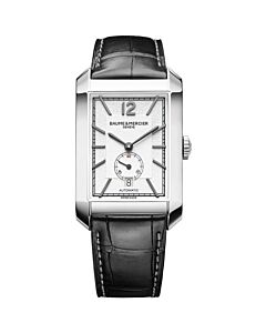 Mens-Hampton-Alligator-Leather-Silver-tone-Dial