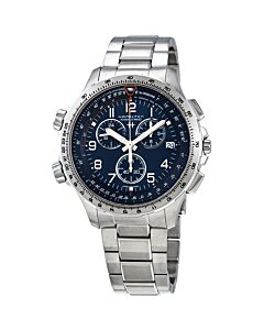 Mens-Khaki-X-Wind-Chronograph-Stainless-Steel-Blue-Dial