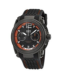 Mens-King-Chronograph-Silicone-Black-and-Orange-Dial