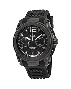 Mens-King-Chronograph-Silicone-Black-Dial