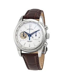 Mens-L07-Chronograph-Alligator-Leather-Silver-tone-Dial