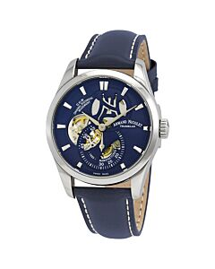 Mens-L16-Calf-Leather-Blue-Dial