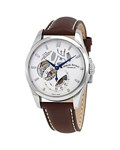 Mens-L16-Calfskin-Leather-Silver-Dial