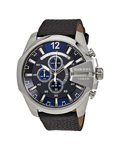 Mens-Mega-Chief-Chronograph-Leather-Navy-Blue-Dial