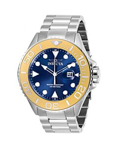 Mens-Pro-Diver-Stainless-Steel-Blue-Dial