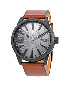 Mens-Rasp-Leather-Grey-Dial