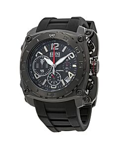 Mens-The-General-Chronograph-Silicone-Black-Dial