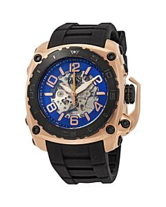 Mens-The-General-Prime-Silicone-Blue-Skeleton-Dial