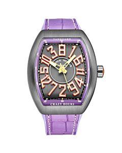 Mens-Vanguard-Crazy-Hours-Rubber-Grey-Dial-Watch