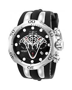 Mens-Venom-Chronograph-Silicone-and-Stainless-Steel-Black-Dial