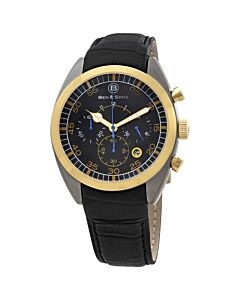 Mens-Voyager-Chronograph-Leather-Black-Dial