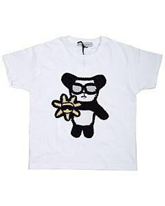 Michaela Buerger Ladies White Cool Panda T-Shirt Size 5/6 Years