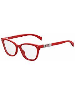 Moschino 52 mm Red Eyeglass Frames