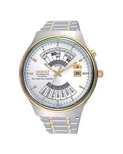 Men's Perpetual Calendar Stainless Steel White Dial