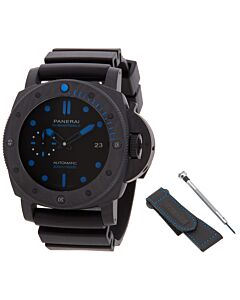 Men's Luminor Submersible 1950 Rubber Black Dial Watch