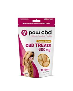 Paw Cbd / Peanut Butter Dog Treats 30 Pieces 600 Mg- 20 Mg Each