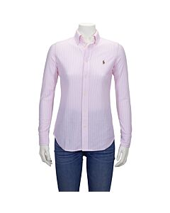 Polo Ralph Lauren Ladies Classics Pink Heidi Long Sleeve Knit Oxford Size Large