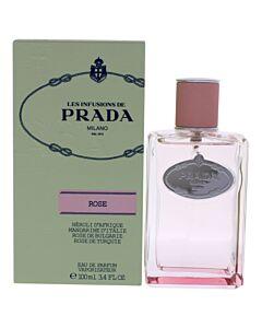 Prada Infusion De Rose for Ladies by Prada Eau De Parfum Spray 3.4 oz (100 ml)
