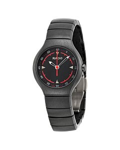 Women's True Active Platinium Black-tone Ceramic Black Dial