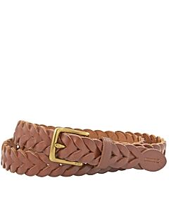 Ralph Lauren Braided Leather Belt in Tan- Size 36