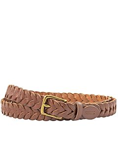 Ralph Lauren Braided Leather Belt in Tan- Size 42