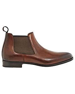 Santoni Brown Men's Leather Ankle Boots - Size 9