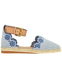 See By Chloe Ladies Espadrilles Sandle W Leather Strap Size 35 (5 US)