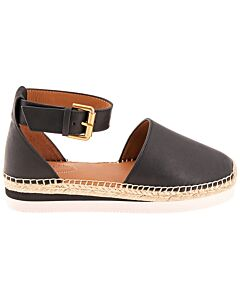 See By Chloe Ladies Glyn Flat Leather Espadrilles Size 37 (7 US)