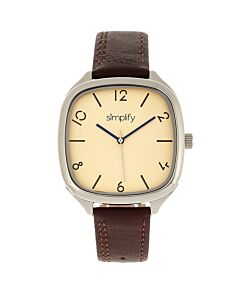 Unisex The 3500 Leather Gold-tone Dial