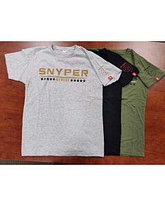 Snyper Men's Green/Black T-Shirt- Size Medium