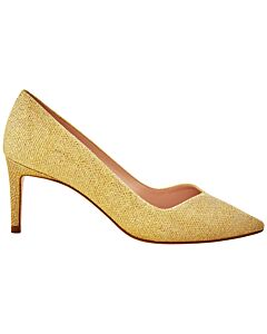 Stuart Weitzman Anny Gold Pumps, Brand Size 35.5 ( US Size 5 )