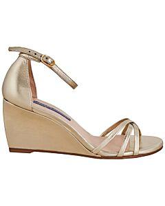 Stuart Weitzman Ladies Platinum 65 Sandals