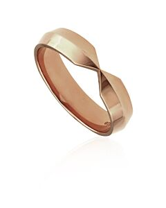 Tiffany 18k Rose Gold Nesting Wide Band Ring, Size 8