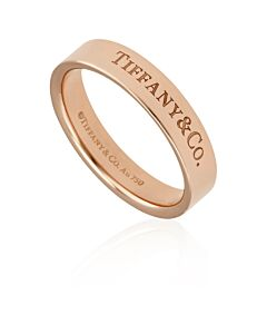 Tiffany & Co. 18k Rose Gold 4 MM Band Ring, Size 9 1/2