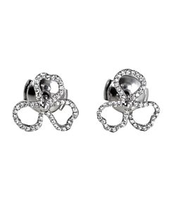Tiffany Ladies Tiffany Paper Flowers Diamond Open Flower Earrings