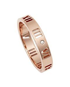 Tiffany Ladies Atlas 18k Rose Gold Pierced Ring, Size 6.5