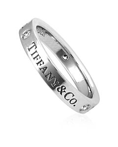 Tiffany Unisex Tiffany & Co. Band Platinum Ring, Brand Size 4.5