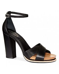 Tods WoMen's Smooth Leather Sandals- Black, Shoe Size: 40.5, US 10.5