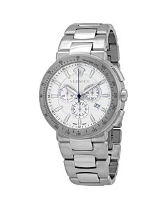 Men's Mystic Sports Chronograph Stainless Steel White Dial Watch
