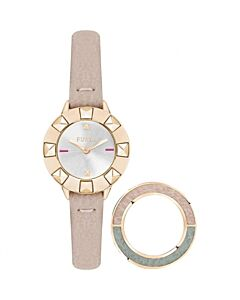 Women's Club Leather Calfskin Silver-tone Dial
