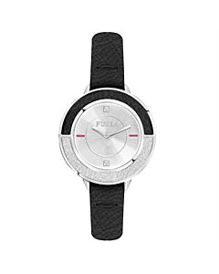 Women's Club Leather Silver-tone Dial