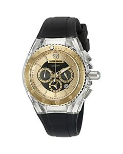 Women's Cruise Pearl Chronograph Silicone Gold and Black Dial