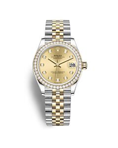 Womens-Datejust-31-Stainless-Steel-with-18kt-Yellow-Gold-Jubilee-Champagne-Dial